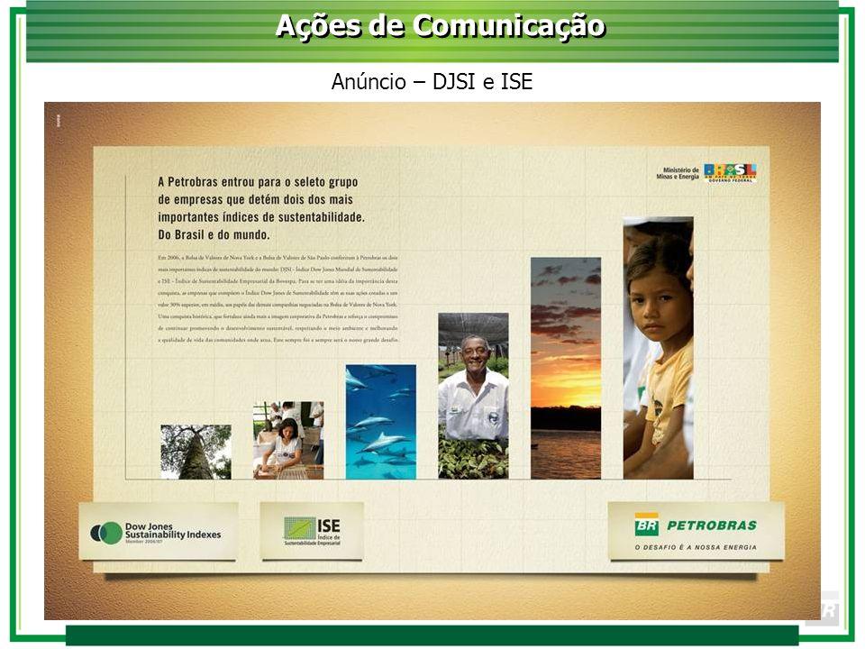 Anúncio – DJSI e ISE Ações de Comunicação