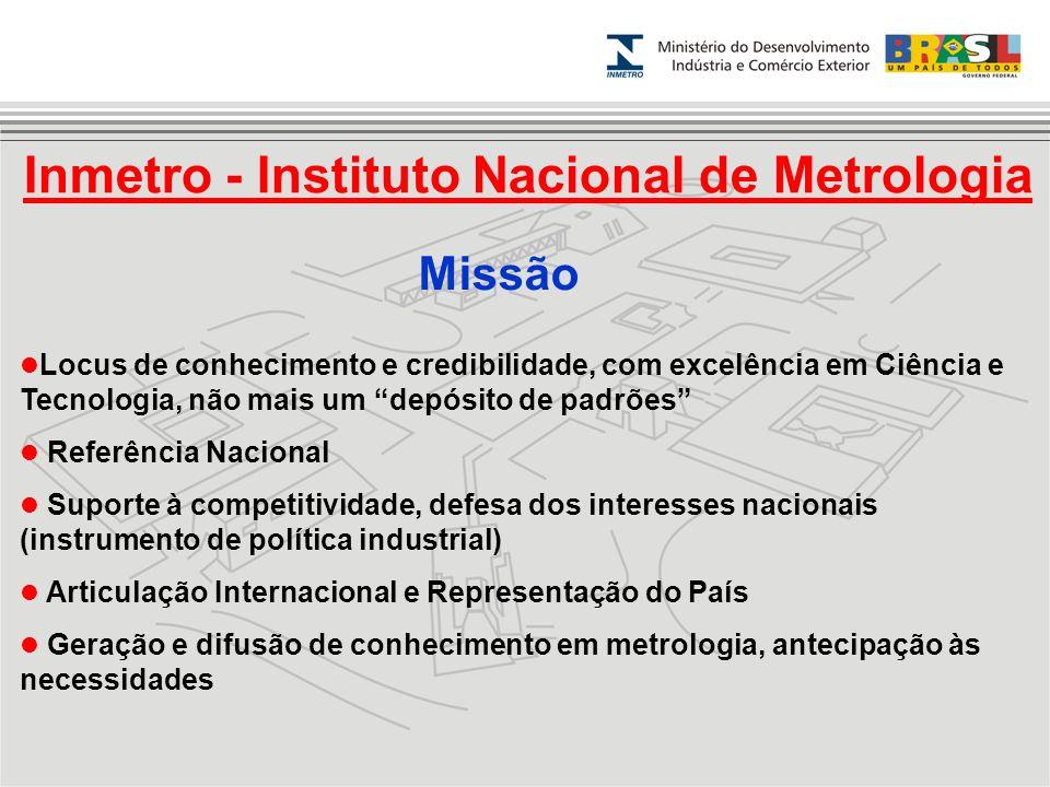 Inmetro - Instituto Nacional de Metrologia Locus de conhecimento e credibilidade, com excelência em Ciência e Tecnologia, não mais um depósito de padr