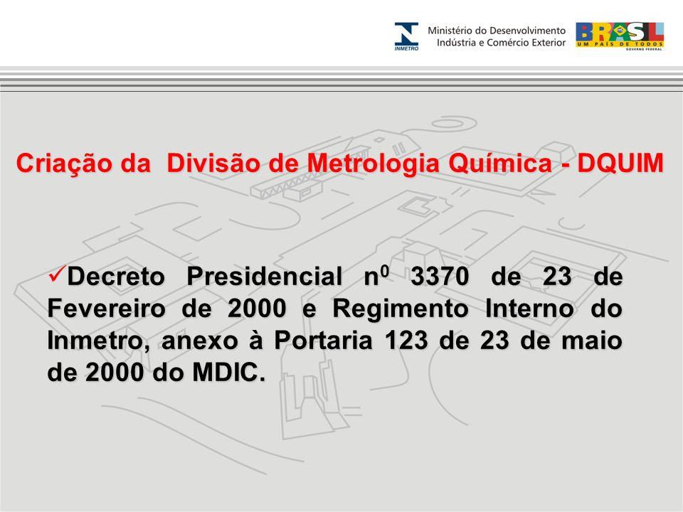 Decreto Presidencial n 0 3370 de 23 de Fevereiro de 2000 e Regimento Interno do Inmetro, anexo à Portaria 123 de 23 de maio de 2000 do MDIC. Criação d