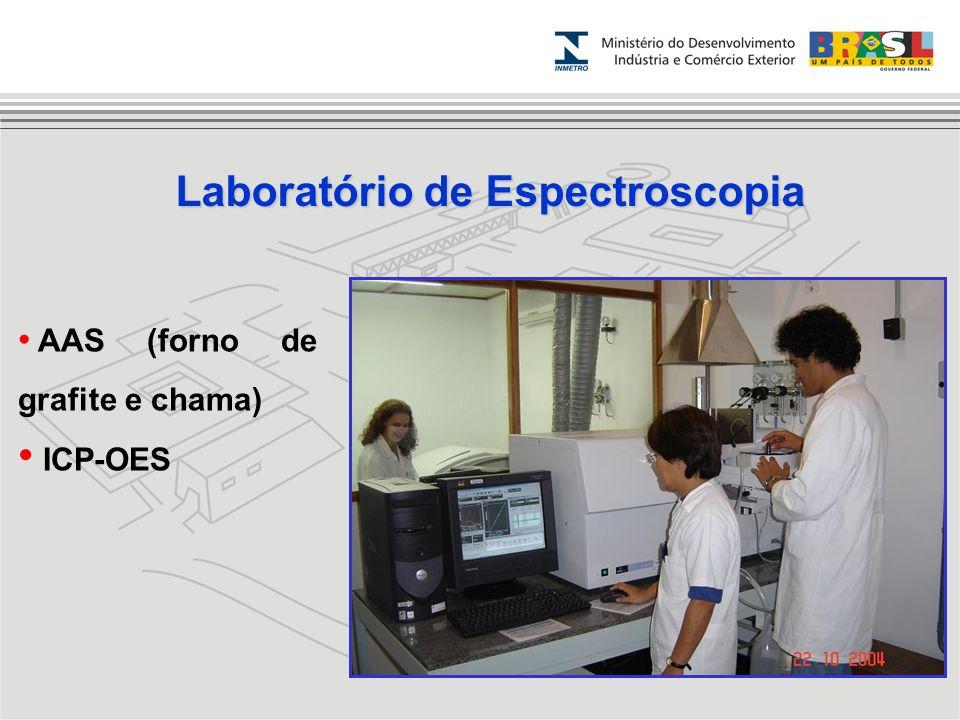 Laboratório de Espectroscopia AAS (forno de grafite e chama) ICP-OES