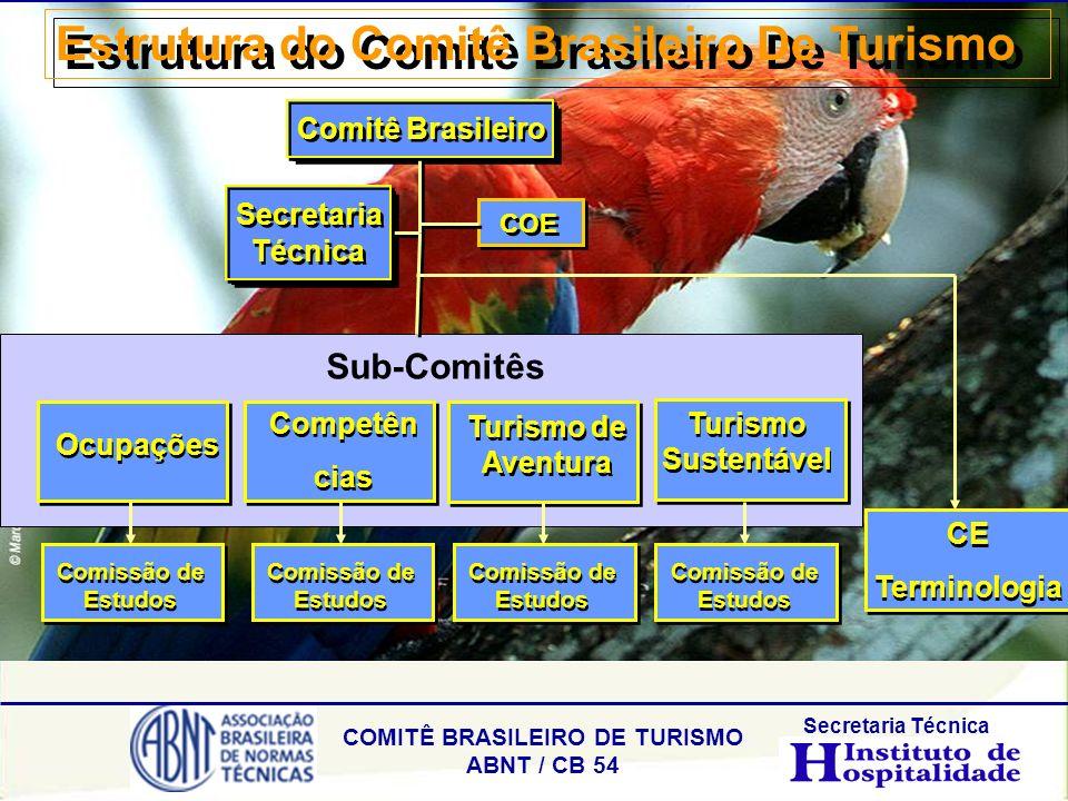 COMITÊ BRASILEIRO DE TURISMO ABNT / CB 54 Secretaria Técnica Estrutura do Comitê Brasileiro De Turismo Secretaria Técnica Comitê Brasileiro Ocupações