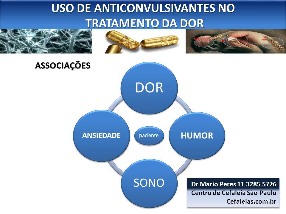 USO DE ANTICONVULSIVANTES NO TRATAMENTO DA DOR TRATAMENTO DA DOR USO DE ANTICONVULSIVANTES NO TRATAMENTO DA DOR TRATAMENTO DA DOR ASSOCIAÇÕES paciente