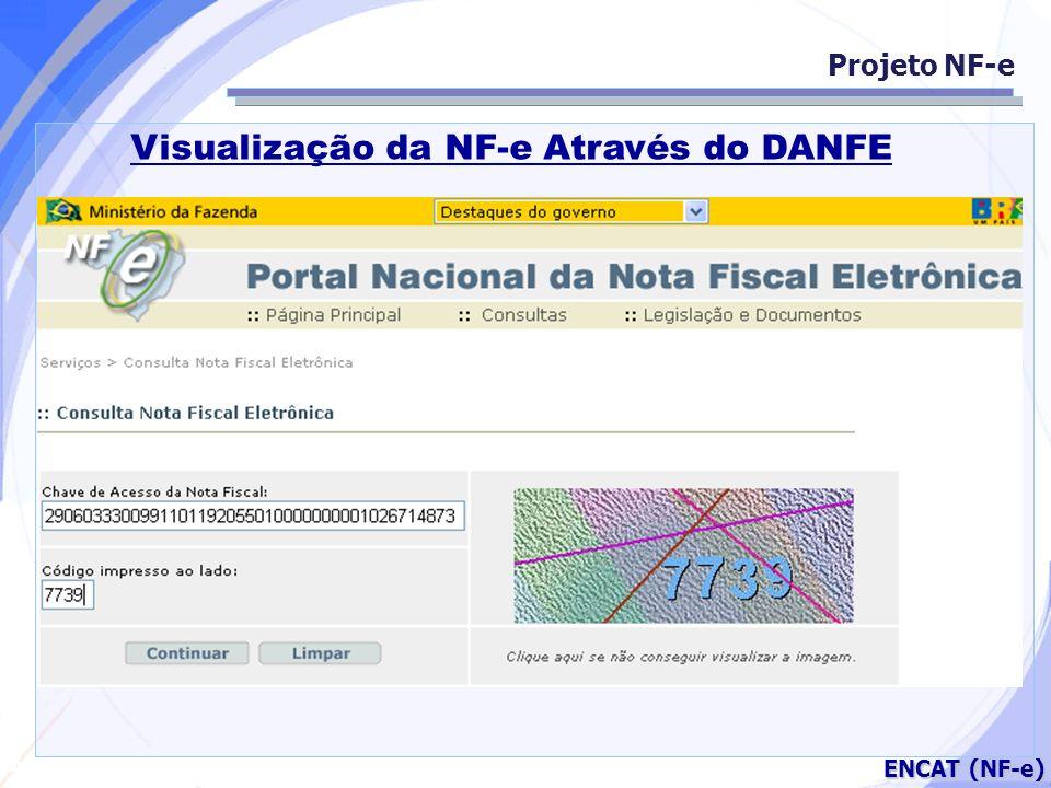 Secretaria da Fazenda ENCAT (NF-e) Projeto NF-e Visualização da NF-e Através do DANFE