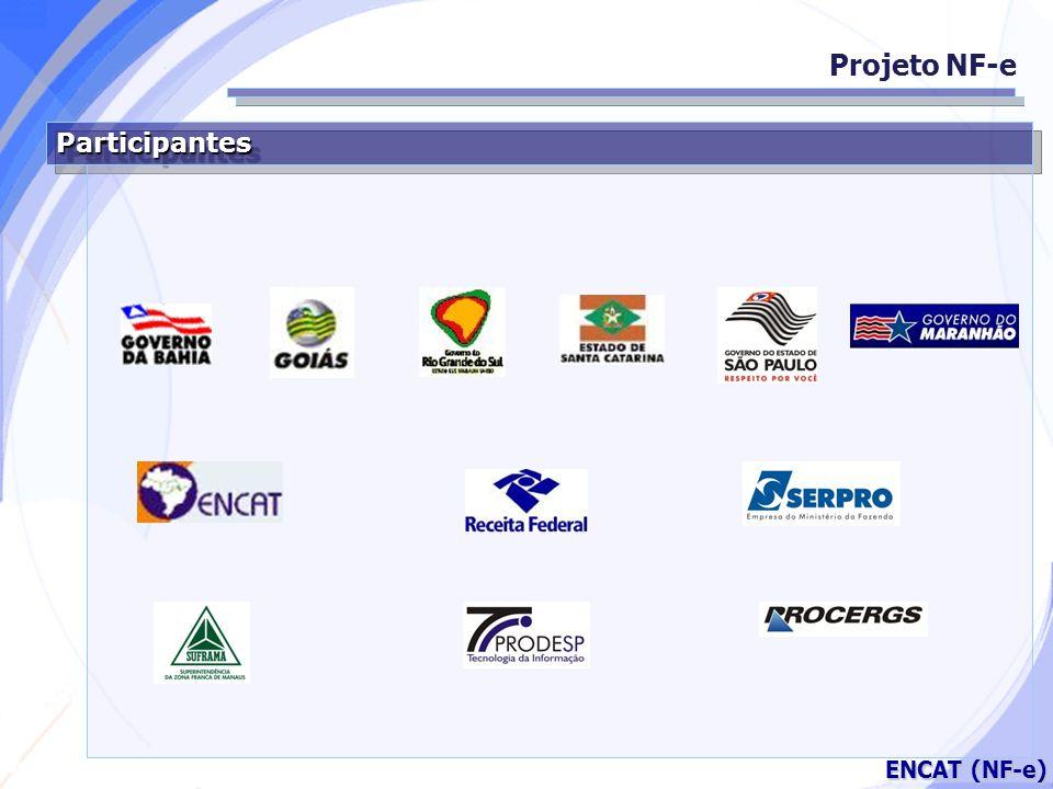 Secretaria da Fazenda ENCAT (NF-e) Empresas Participantes do Projeto Projeto NF-e