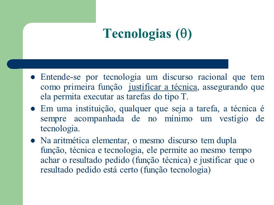 Tecnologias ( ) Entende-se por tecnologia um discurso racional que tem como primeira função justificar a técnica, assegurando que ela permita executar