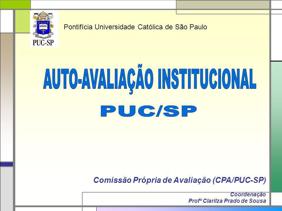 Comissão Própria de Avaliação (CPA/PUC-SP) Coordenação Profª Clarilza Prado de Sousa Pontifícia Universidade Católica de São Paulo