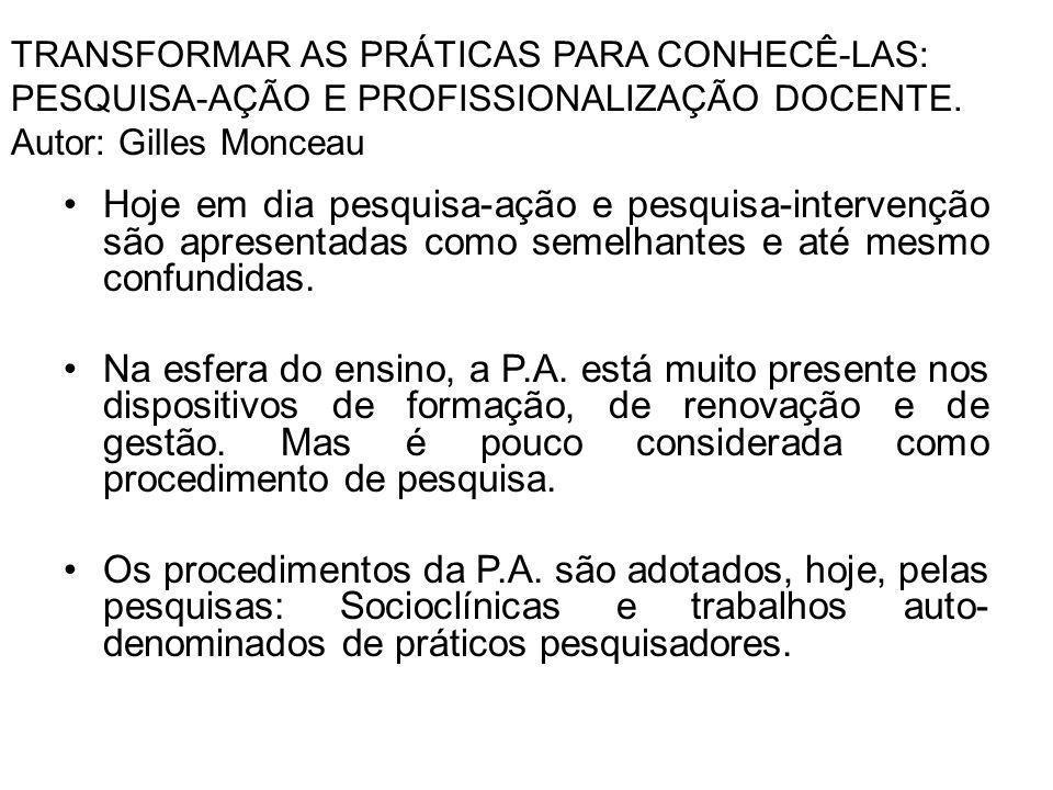 As características das pesquisas Socioclínicas são influenciadas pela P.A.