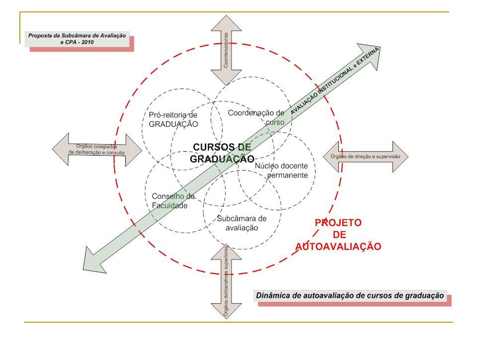 Proposta de um trabalho Monte Alegre Sorocaba Marquês BarueriSantana Subcâmara de Avaliação e CPA Câmara de Graduação Fase 1 Diagnóstico Ensino Pesquisa Extensão Ipiranga Fase 2 Processo Fase 3 Resultado
