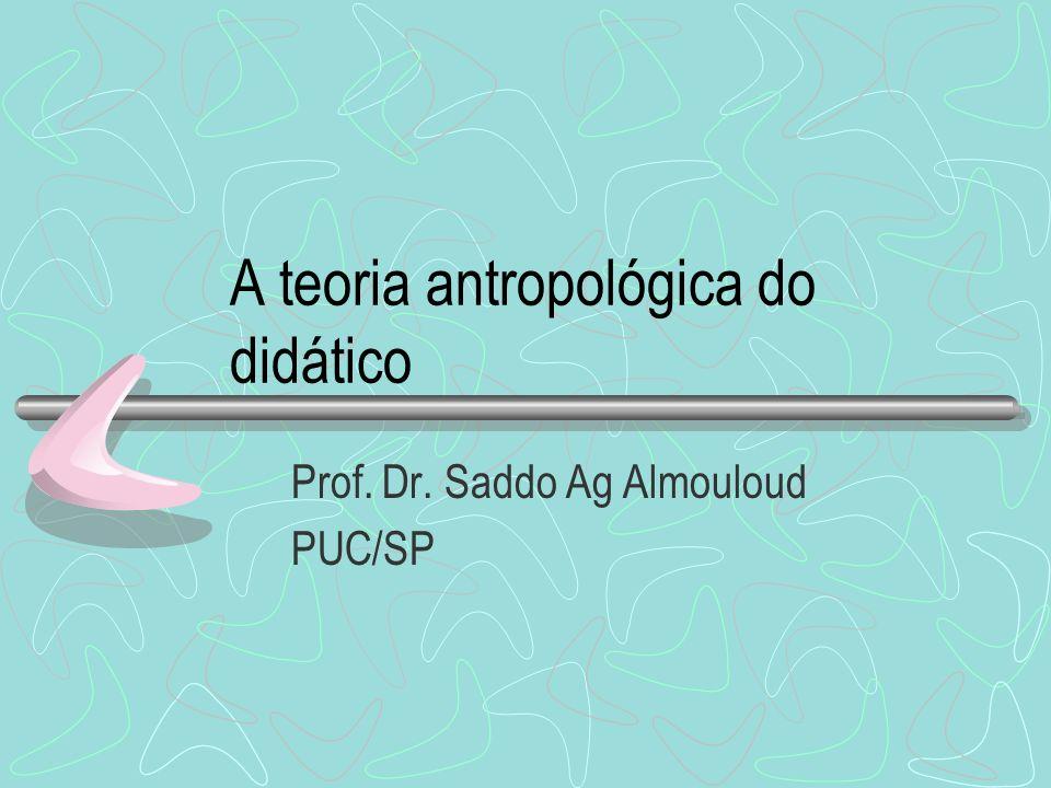 A teoria antropológica do didático Prof. Dr. Saddo Ag Almouloud PUC/SP