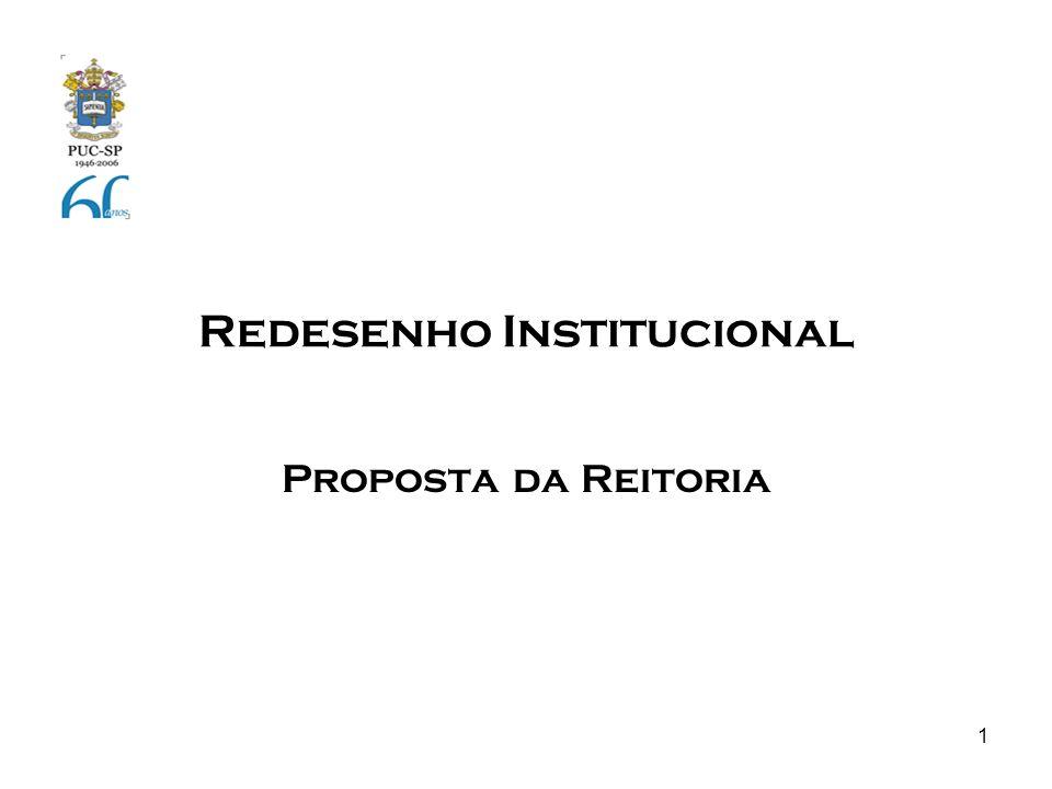 1 Redesenho Institucional Proposta da Reitoria