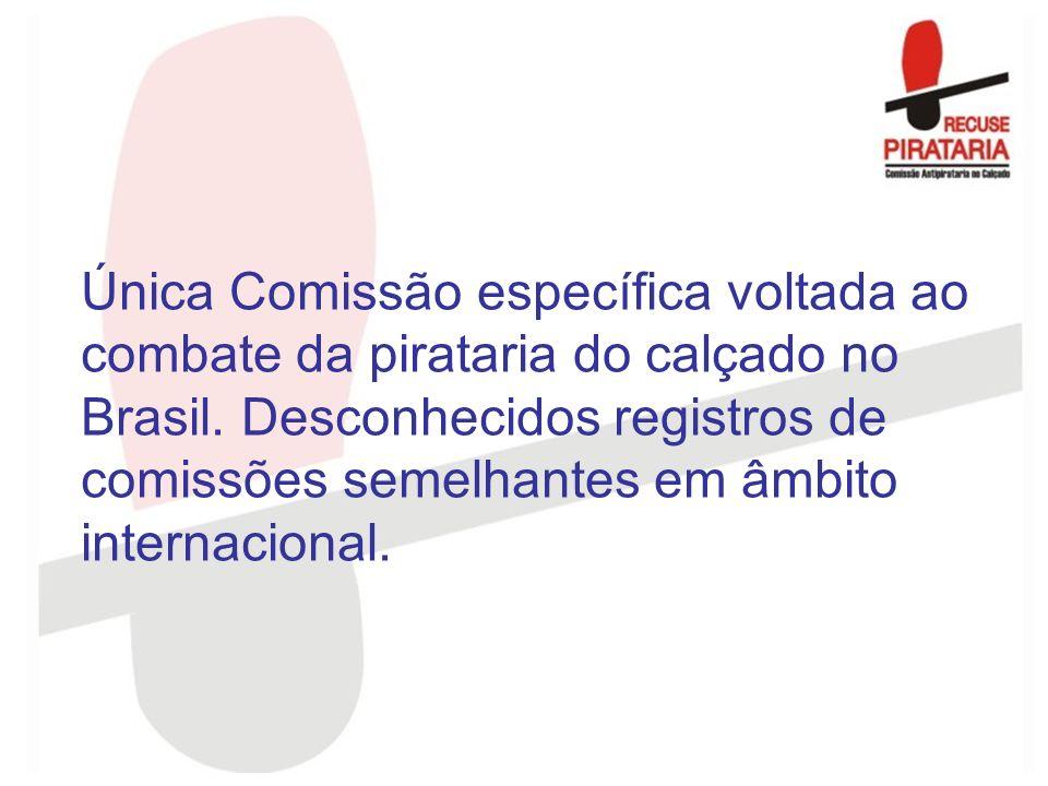 Única Comissão específica voltada ao combate da pirataria do calçado no Brasil. Desconhecidos registros de comissões semelhantes em âmbito internacion