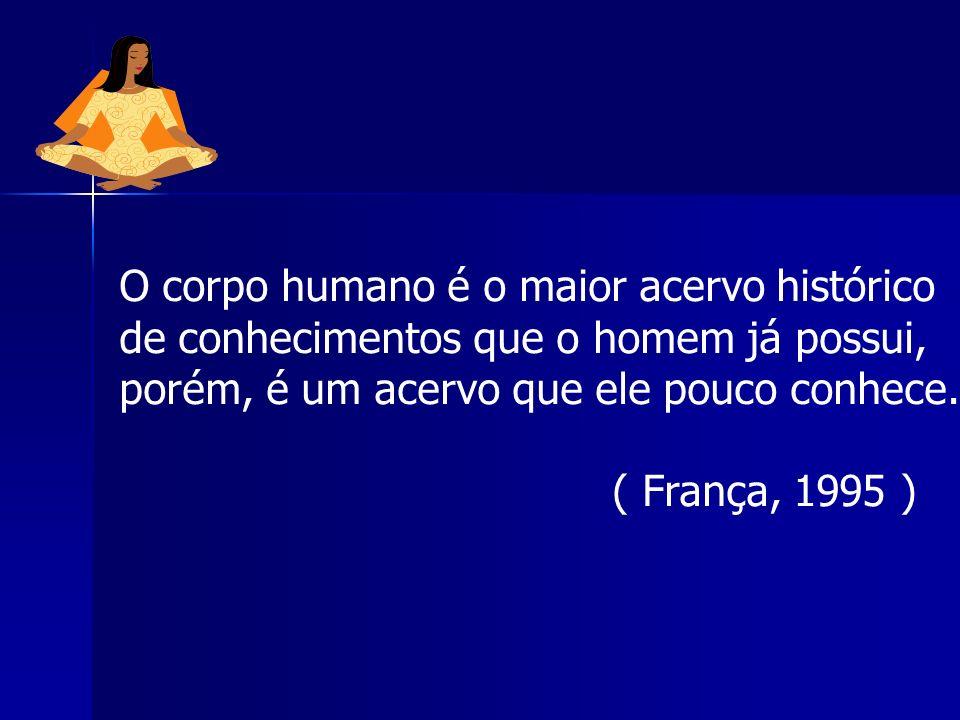 O corpo humano é o maior acervo histórico de conhecimentos que o homem já possui, porém, é um acervo que ele pouco conhece. ( França, 1995 )