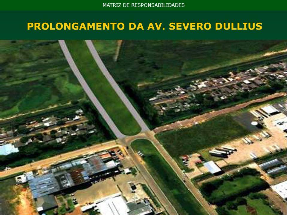 PROLONGAMENTO DA AV. SEVERO DULLIUS MATRIZ DE RESPONSABILIDADES
