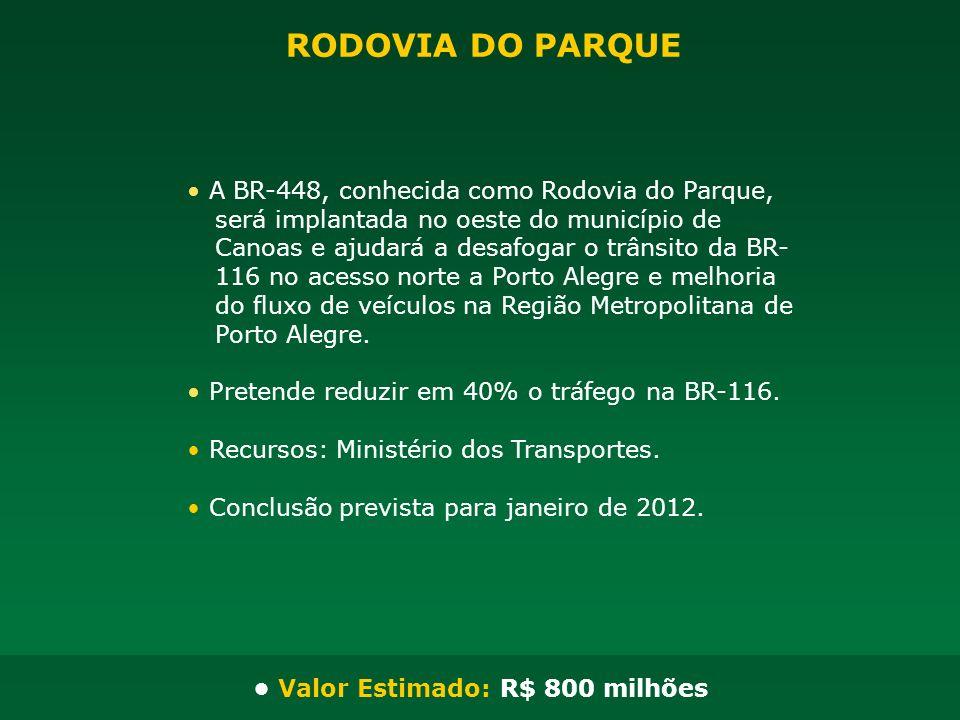 A BR-448, conhecida como Rodovia do Parque, será implantada no oeste do município de Canoas e ajudará a desafogar o trânsito da BR- 116 no acesso nort