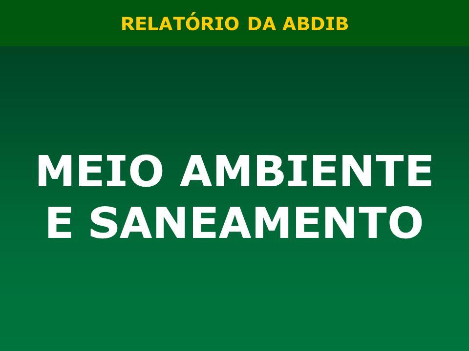 RELATÓRIO DA ABDIB MEIO AMBIENTE E SANEAMENTO
