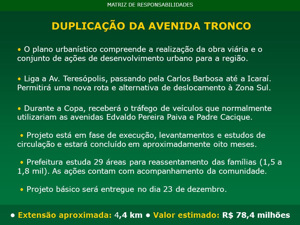 BRTs MATRIZ DE RESPONSABILIDADES