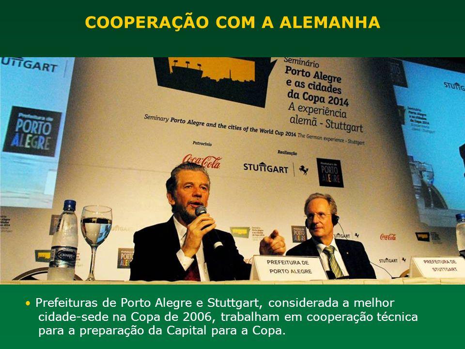 Prefeituras de Porto Alegre e Stuttgart, considerada a melhor cidade-sede na Copa de 2006, trabalham em cooperação técnica para a preparação da Capita