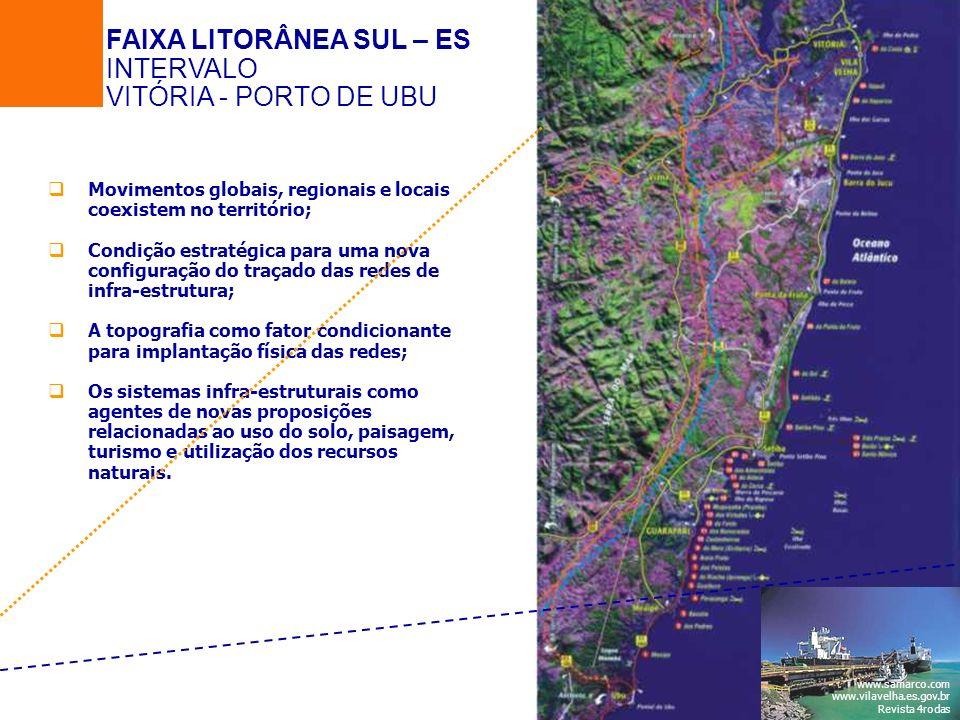 Movimentos globais, regionais e locais coexistem no território; Condição estratégica para uma nova configuração do traçado das redes de infra-estrutur