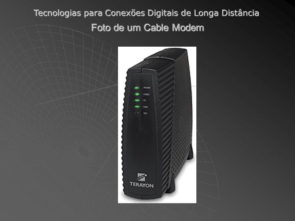 Tecnologias para Conexões Digitais de Longa Distância Foto de um Cable Modem