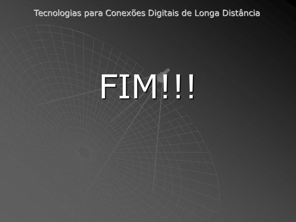 Tecnologias para Conexões Digitais de Longa Distância FIM!!!