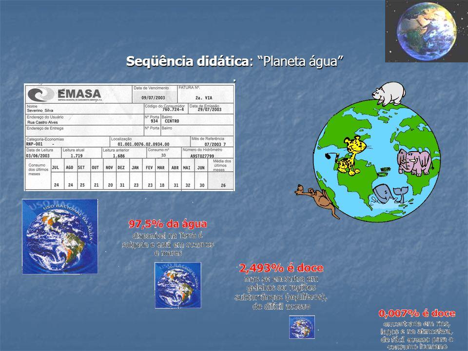 Seqüência didática: Planeta água.