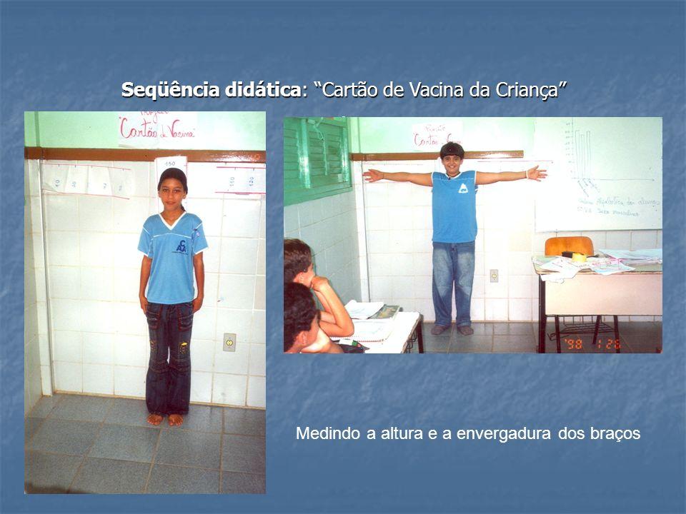 Seqüência didática: Cartão de Vacina da Criança. Medindo a altura e a envergadura dos braços