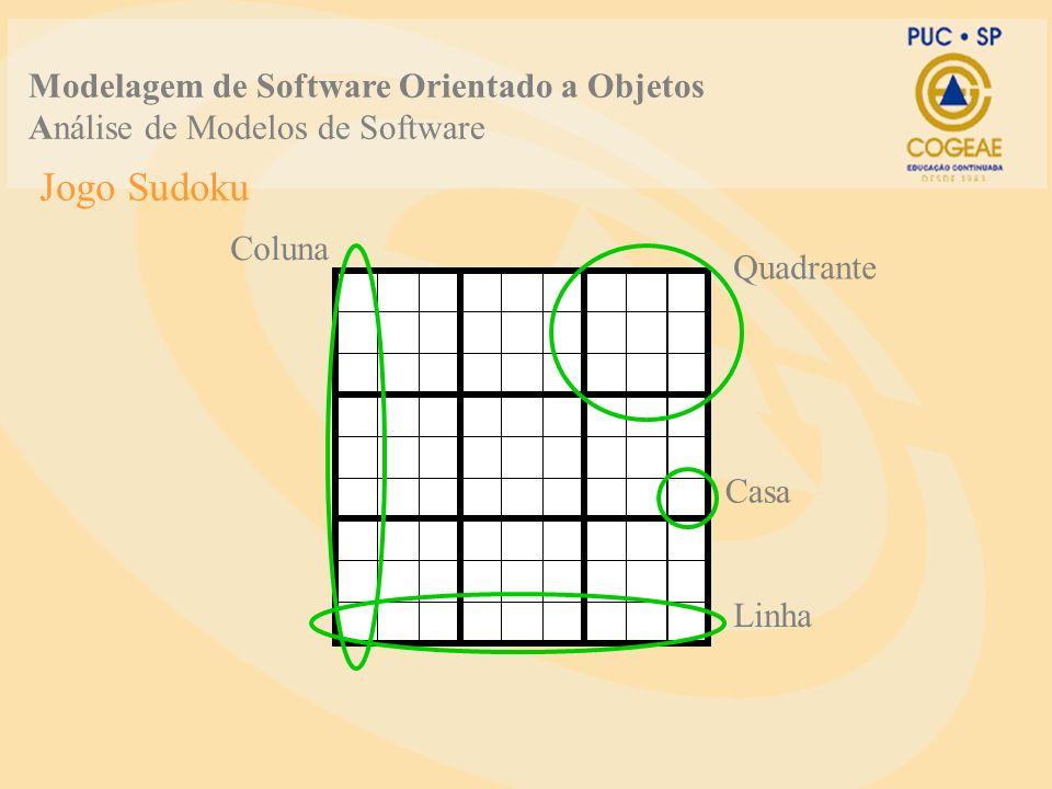 Jogo Sudoku Modelagem de Software Orientado a Objetos Análise de Modelos de Software Quadrante Casa Linha Coluna