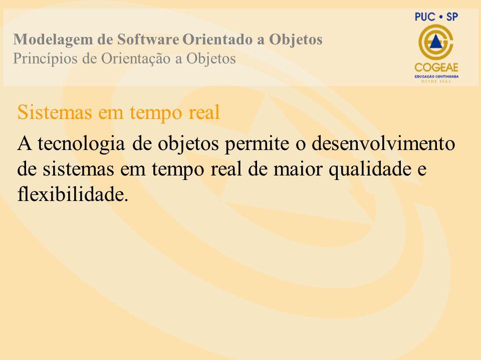 Modelagem de Software Orientado a Objetos Princípios de Orientação a Objetos Sistemas em tempo real A tecnologia de objetos permite o desenvolvimento