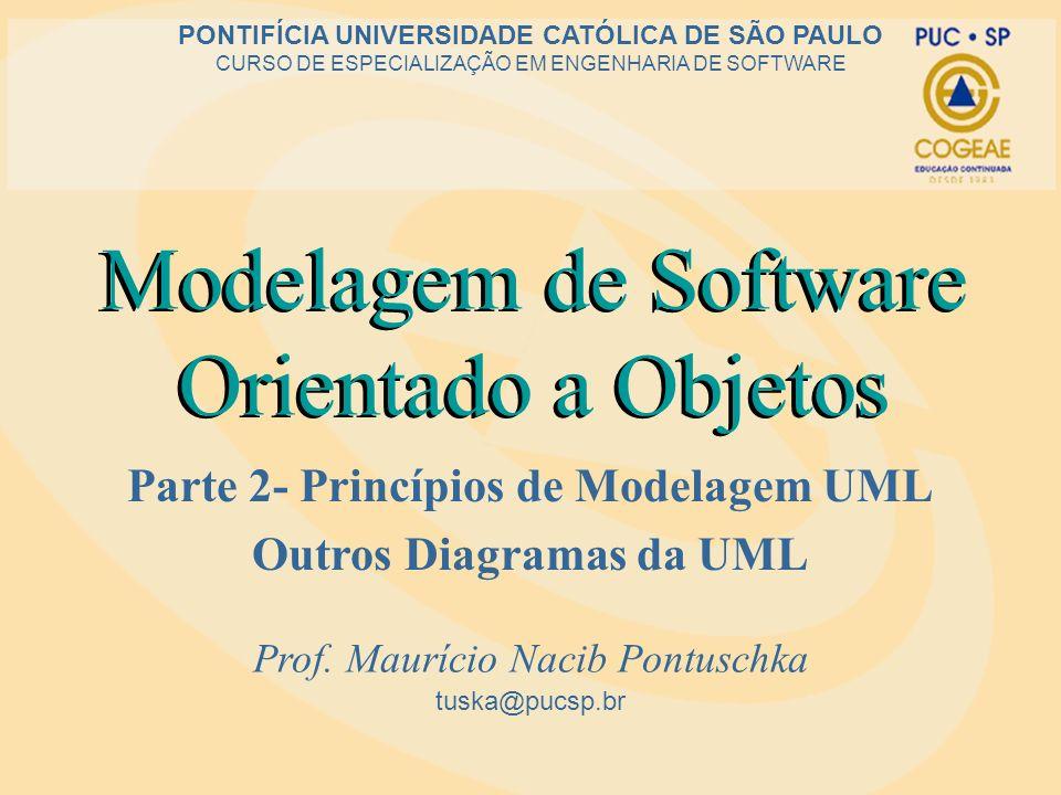 Modelagem de Software Orientado a Objetos Parte 2- Princípios de Modelagem UML Outros Diagramas da UML tuska@pucsp.br PONTIFÍCIA UNIVERSIDADE CATÓLICA