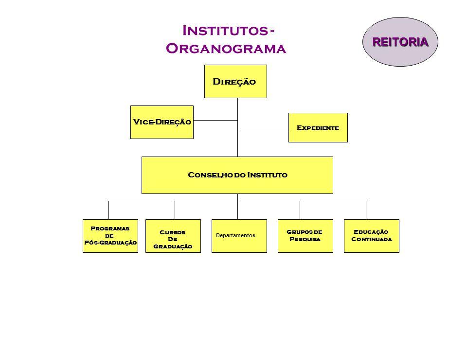 Institutos - Organograma Direção Vice-Direção Expediente Programas de Pós-Graduação Grupos de Pesquisa Cursos De Graduação Conselho do Instituto REITO