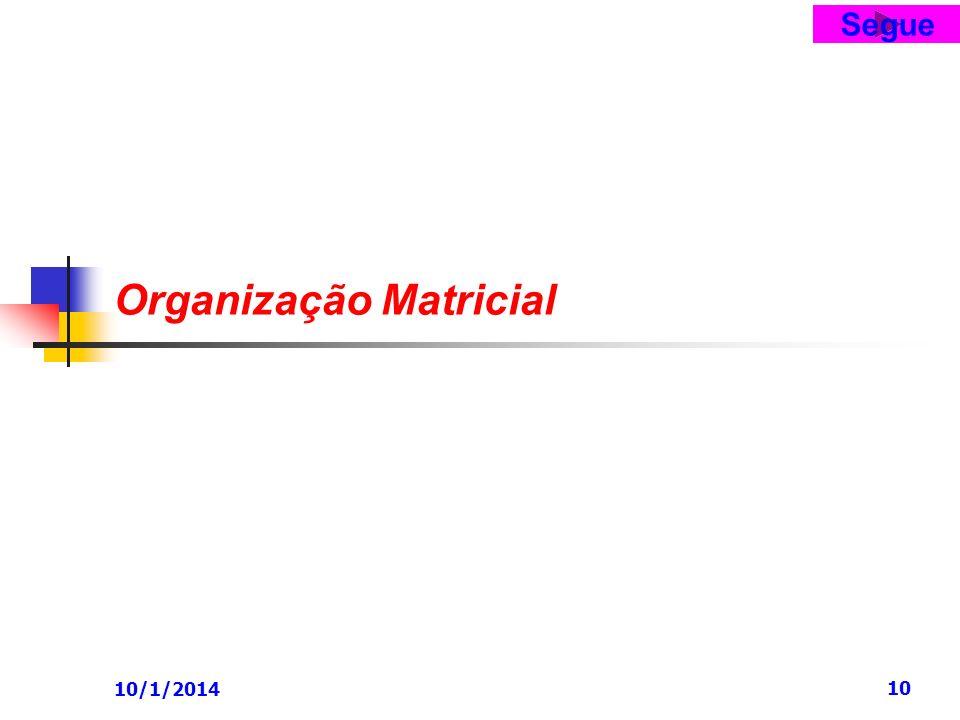 10/1/2014 10 Organização Matricial Segue
