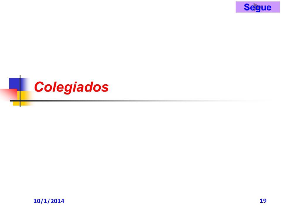 10/1/2014 19 Colegiados Segue