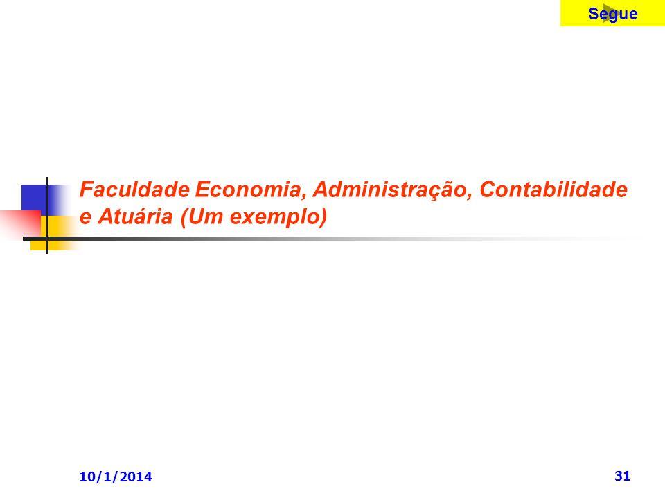 10/1/2014 31 Faculdade Economia, Administração, Contabilidade e Atuária (Um exemplo) Segue
