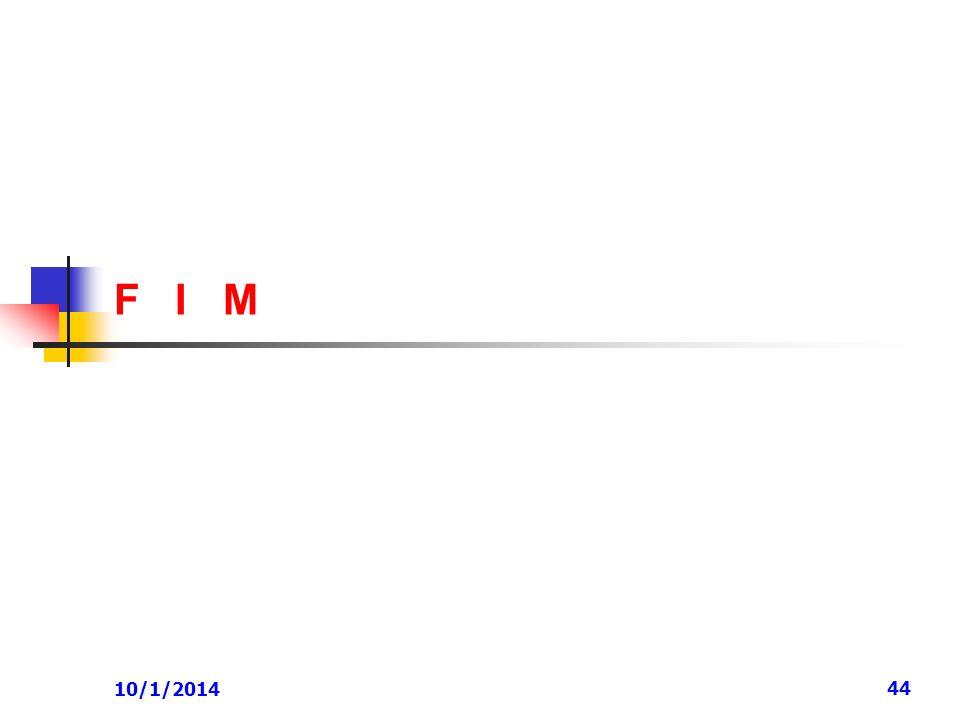 10/1/2014 44 F I M