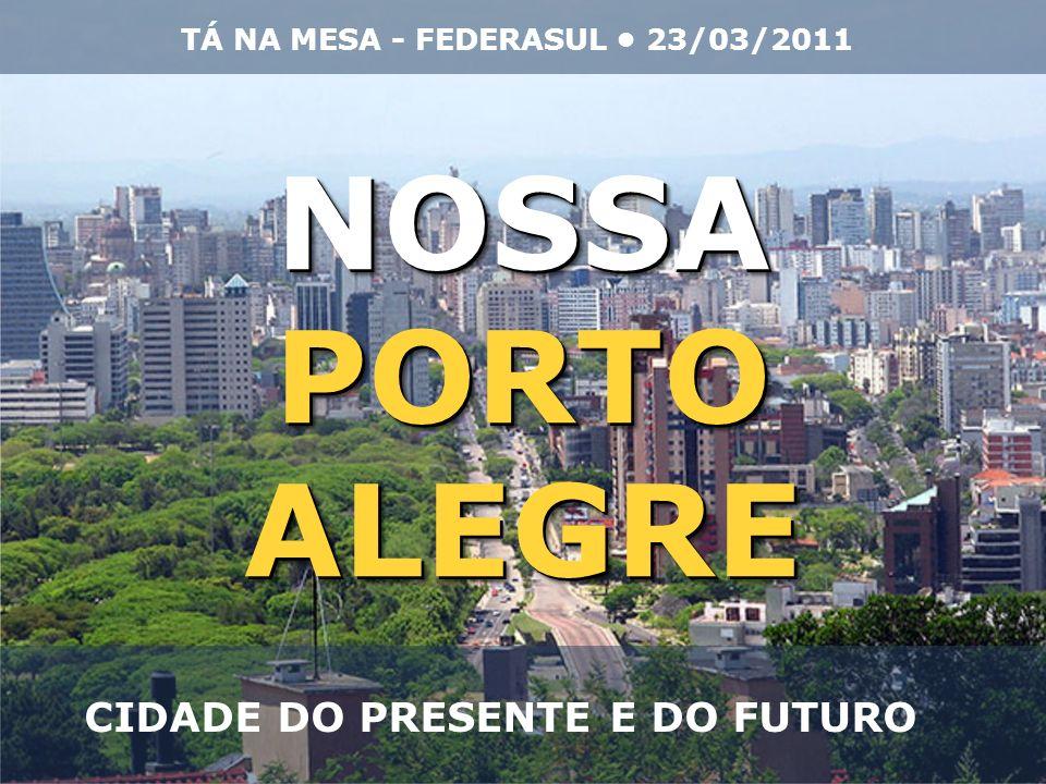 NOSSAPORTOALEGRENOSSAPORTOALEGRE CIDADE DO PRESENTE E DO FUTURO TÁ NA MESA - FEDERASUL 23/03/2011