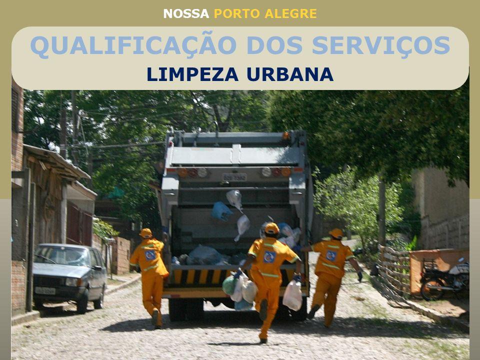 NOSSA PORTO ALEGRE Coleta de Lixo em Porto Alegre Coleta também em vielas e becos de difícil acesso Média de 1.100 toneladas recolhidas por dia Coleta