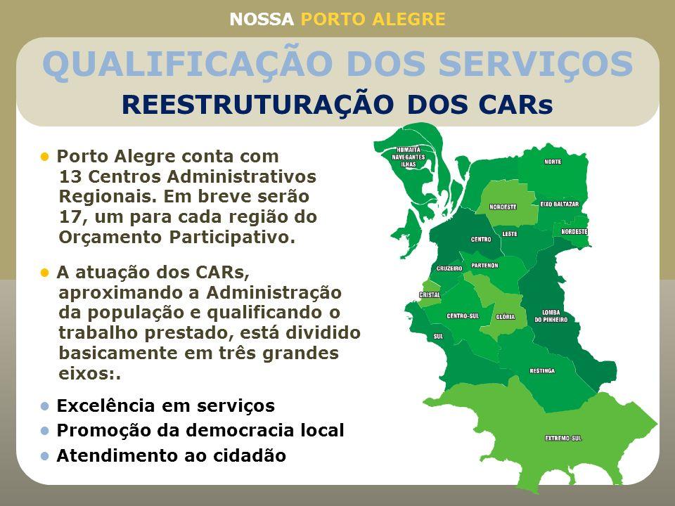 Porto Alegre conta com 13 Centros Administrativos Regionais. Em breve serão 17, um para cada região do Orçamento Participativo. NOSSA PORTO ALEGRE QUA