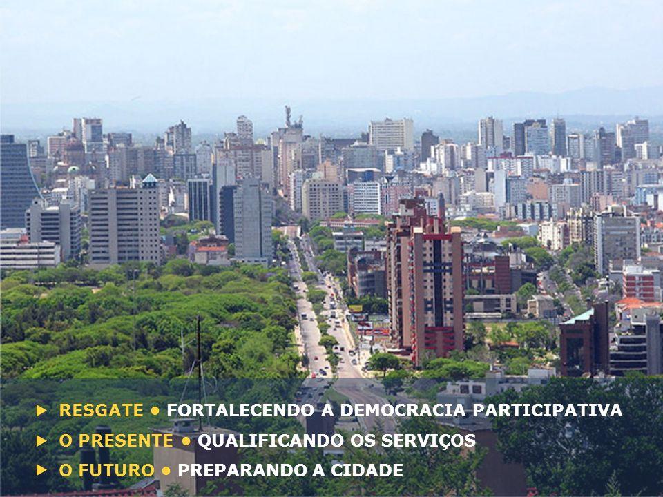 RESGATE FORTALECENDO A DEMOCRACIA PARTICIPATIVA O PRESENTE QUALIFICANDO OS SERVIÇOS O FUTURO PREPARANDO A CIDADE