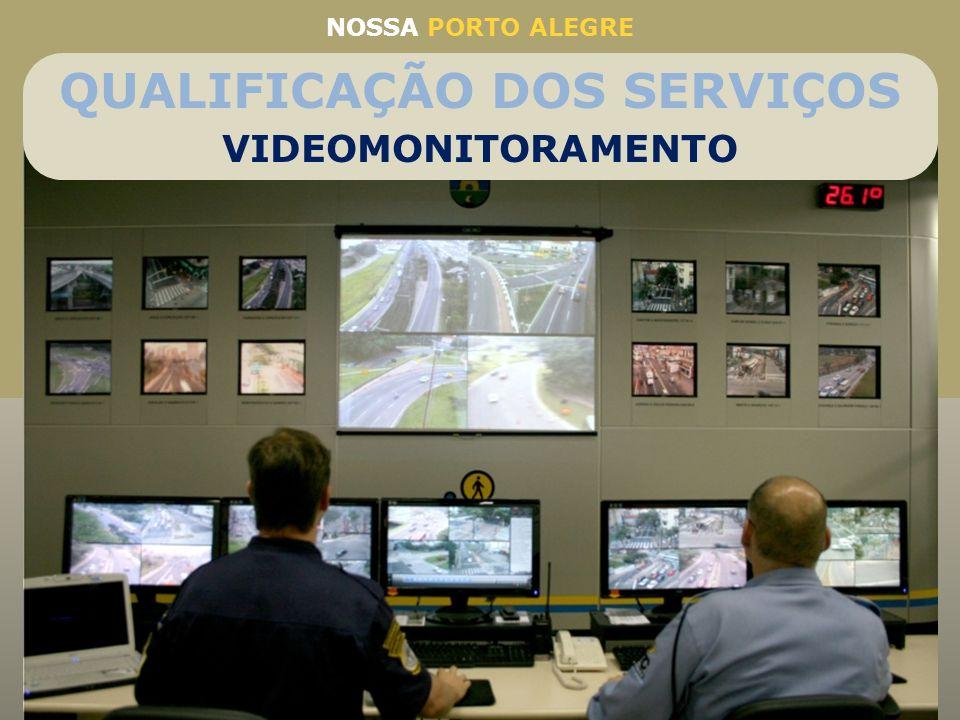 40 câmeras instaladas nos principais cruzamentos Controle centralizado Permite alterar os tempos dos semáforos Das 946 sinaleiras (conjunto de semáfor