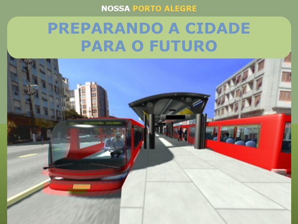 BRT na avenida Protásio Alves (R$ 55.789.473,68) BRT na avenida Assis Brasil (R$ 29.473.684,21) BRT Bento Gonçalves (R$ 24.210.526,32) Bus Rapid Trans