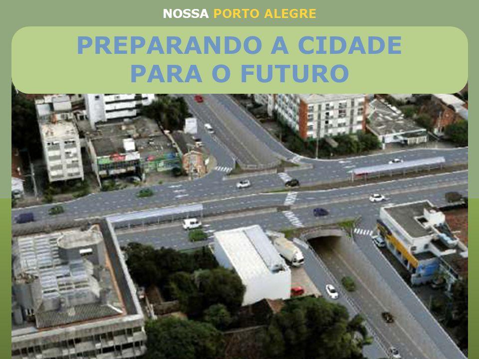 Terceira Perimetral (R$ 120.400.000,00) Viaduto no cruzamento com a Bento Gonçalves - Extensão: 277 metros Viaduto no cruzamento com a avenida Plínio