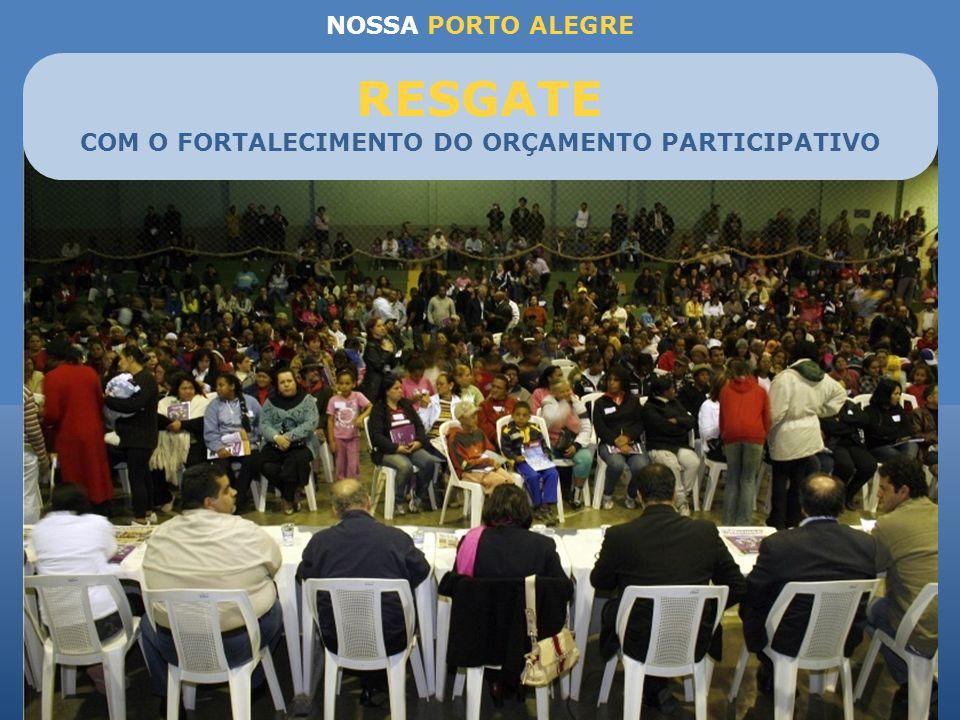 NOSSA PORTO ALEGRE Prefeitura na Comunidade para verificar a execução dos projetos Busca da ampliação e qualificação do OP Fortalecer credibilidade do