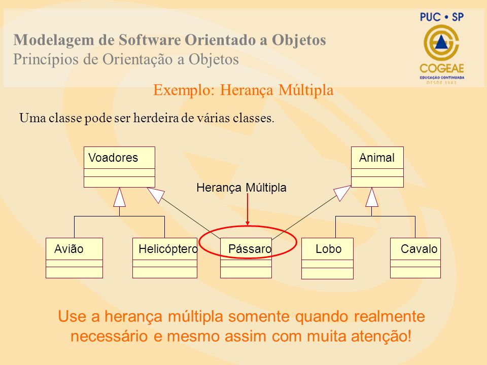 O que é Herança.A herança alavanca as similaridades através das classes.