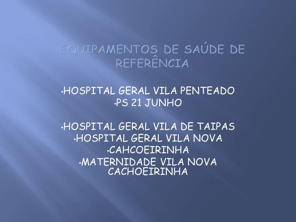 HOSPITAL GERAL VILA PENTEADO PS 21 JUNHO HOSPITAL GERAL VILA DE TAIPAS HOSPITAL GERAL VILA NOVA CAHCOEIRINHA MATERNIDADE VILA NOVA CACHOEIRINHA
