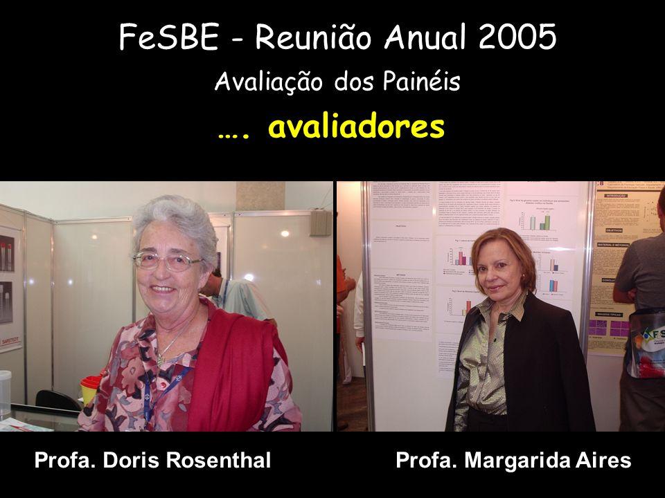 Profa. Margarida Aires FeSBE - Reunião Anual 2005 Avaliação dos Painéis …. avaliadores Profa. Doris Rosenthal