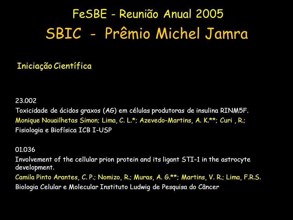 23.002 Toxicidade de ácidos graxos (AG) em células produtoras de insulina RINM5F. Monique Nouailhetas Simon; Lima, C. L.*; Azevedo-Martins, A. K.**; C