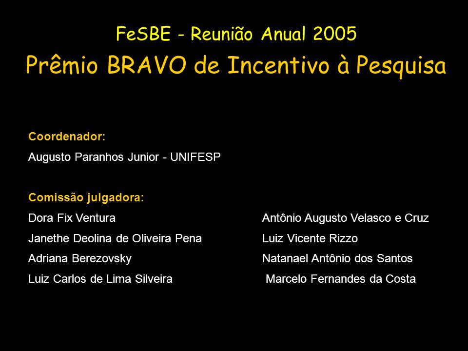Coordenador: Augusto Paranhos Junior - UNIFESP Comissão julgadora: Dora Fix VenturaAntônio Augusto Velasco e Cruz Janethe Deolina de Oliveira Pena Lui