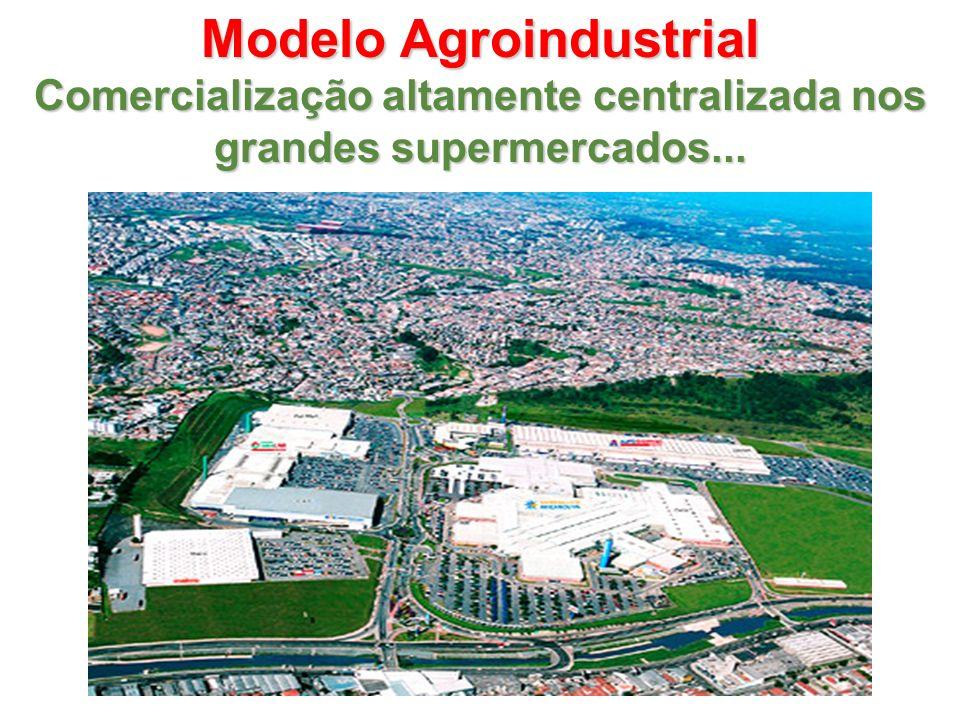 Modelo Agroindustrial Comercialização altamente centralizada nos grandes supermercados...