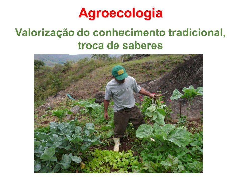 Agroecologia Valorização do conhecimento tradicional, troca de saberes
