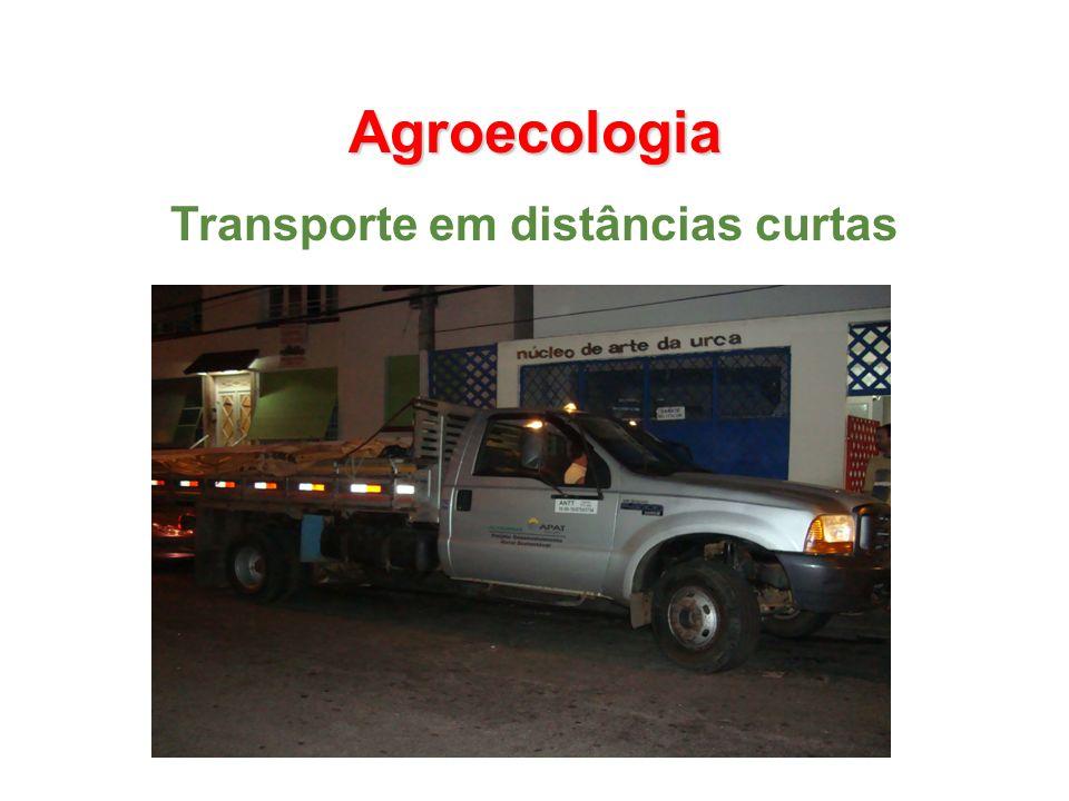 Agroecologia Transporte em distâncias curtas